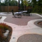 Exposed aggregate (Rocky Top) Concrete Patio