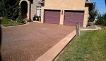 Exposed aggregate (Rocky Top) Driveway