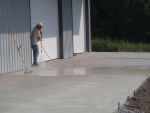 Exposing Rocky Top Concrete slab