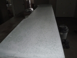 Polished concrete bartop